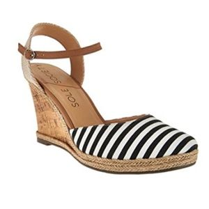 ✨Sole Society Striped Espadrille Lucy Wedges sz 7